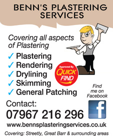 Benns Plastering Services