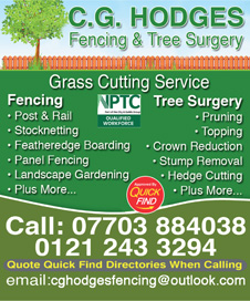 CG Hodges Fencing and Tree Surgery