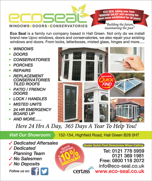Ecoseal Windows Doors and Conservatories