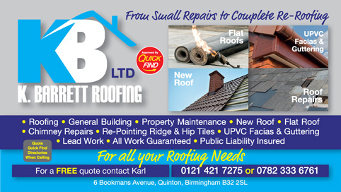 K Barrett Roofing and Building
