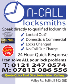 On Call Locksmiths Solihull
