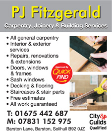 PJ Fitzgerald Carpentry, Joinery & Building Services