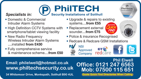 Philtech Security Installations of Solihull