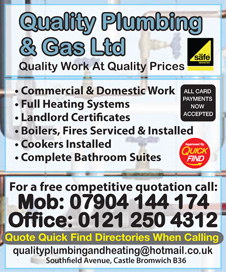Quality Plumbing & Gas Ltd