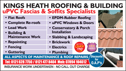 Kings Heath Roofing & Building