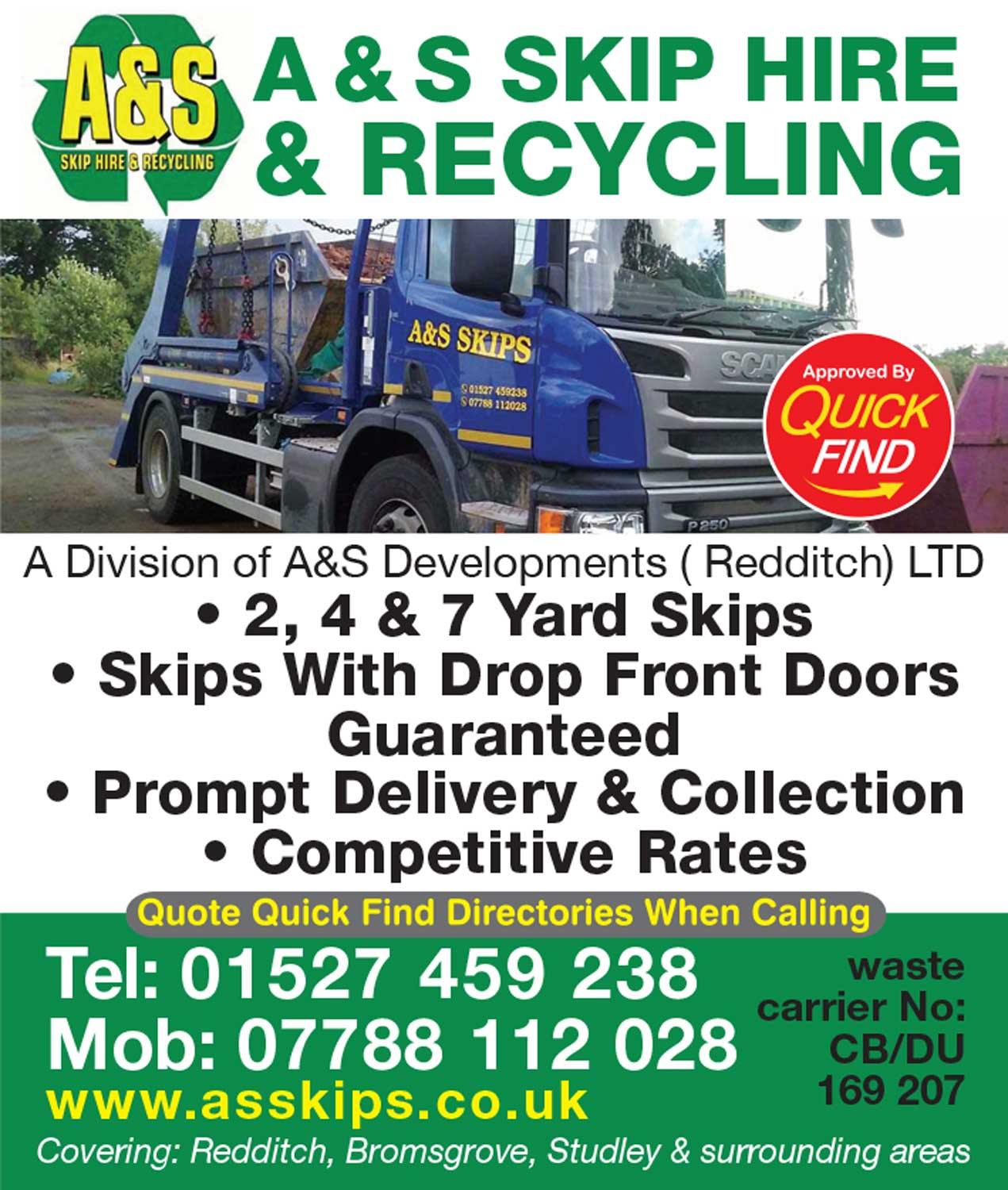 A&S Skip Hire & Recycling