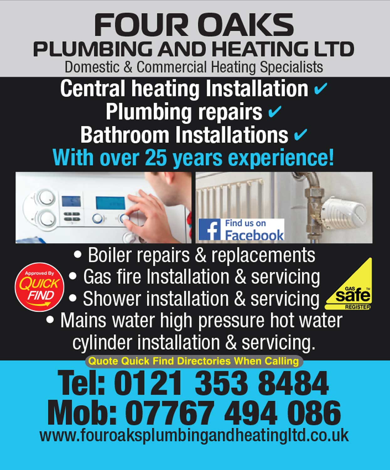Four Oaks Plumbing & Heating Ltd
