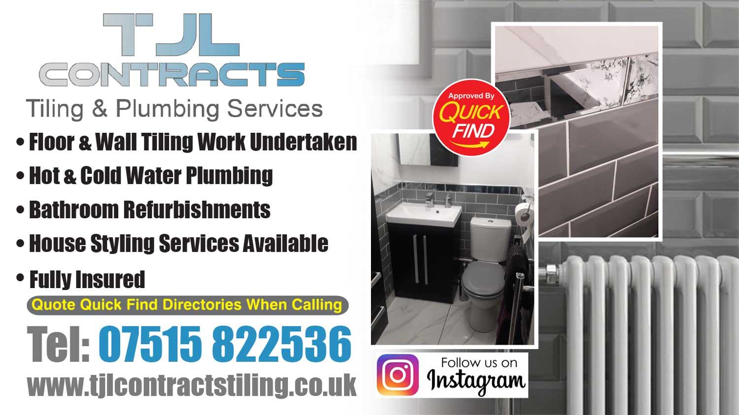 TJL Contracts Tiling & Plumbing Services