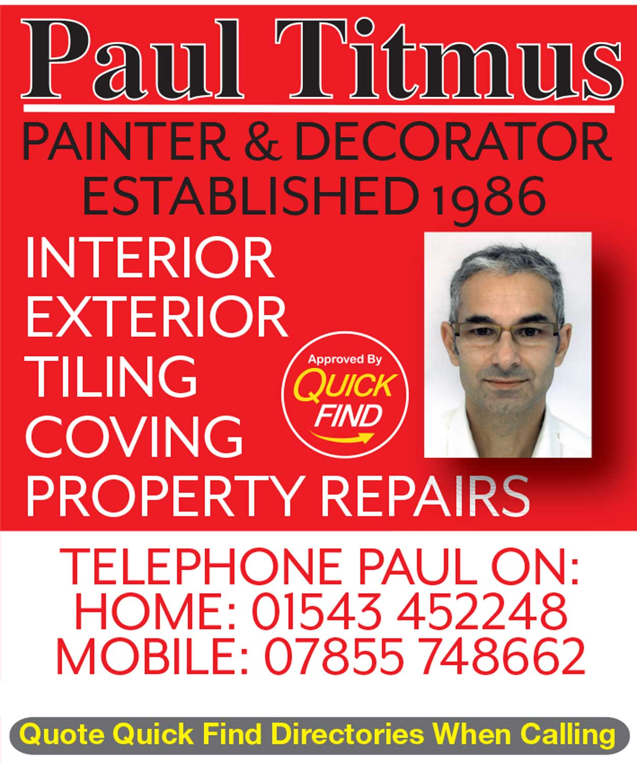 Paul Titmus Painter & Decorator