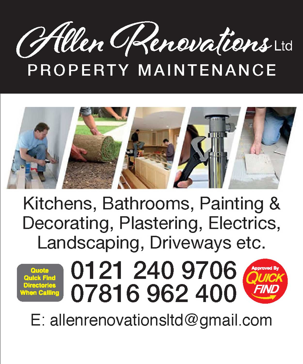 Allen Renovations Property Maintenance