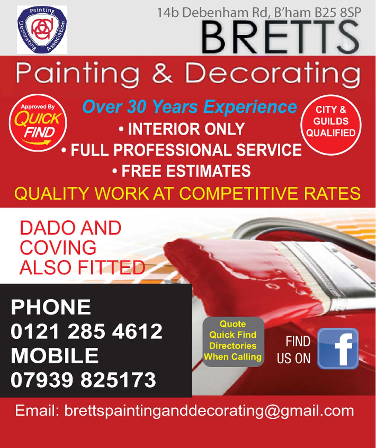 Bretts Painting and Decorating