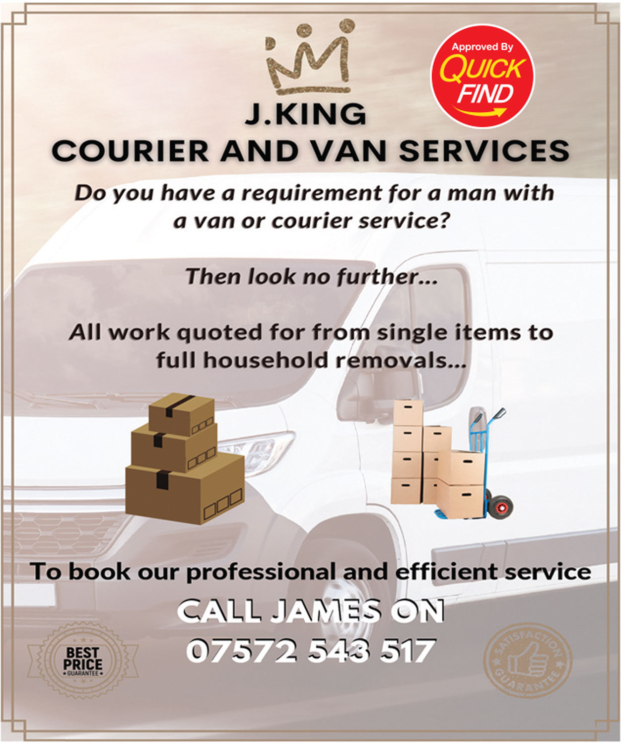 J. King Courier & Van Services