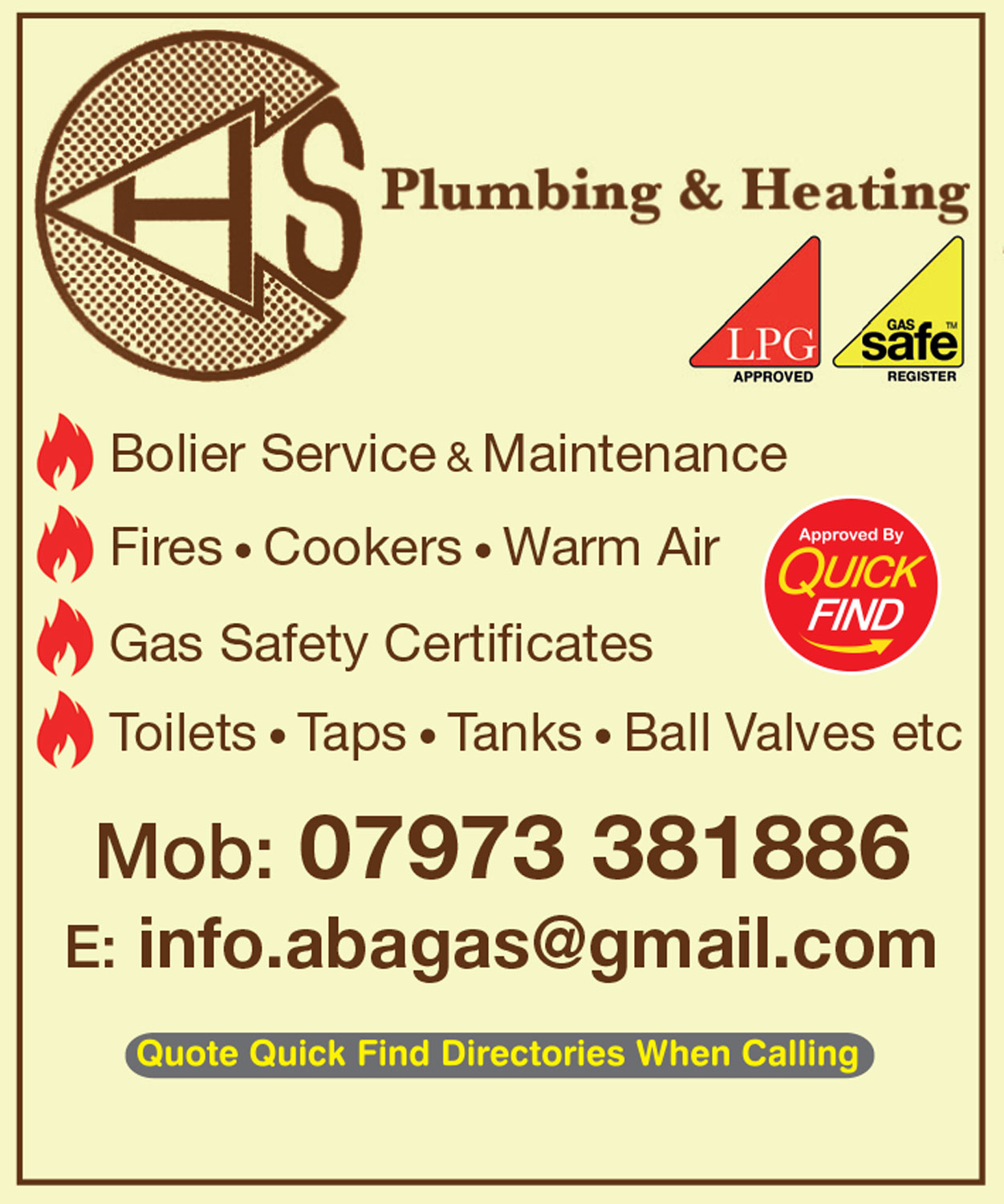 Abagas Plumbing & Heating