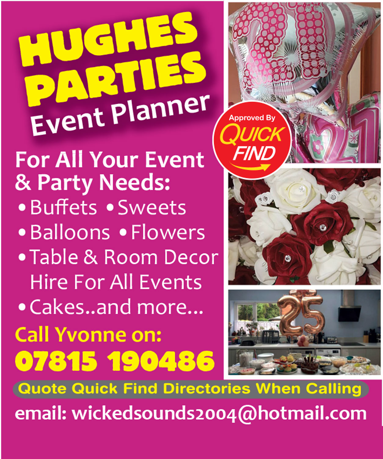 Hughes Parties Event Planner