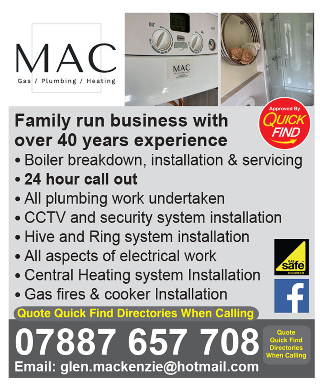 MAC Gas, Plumbing, Heating