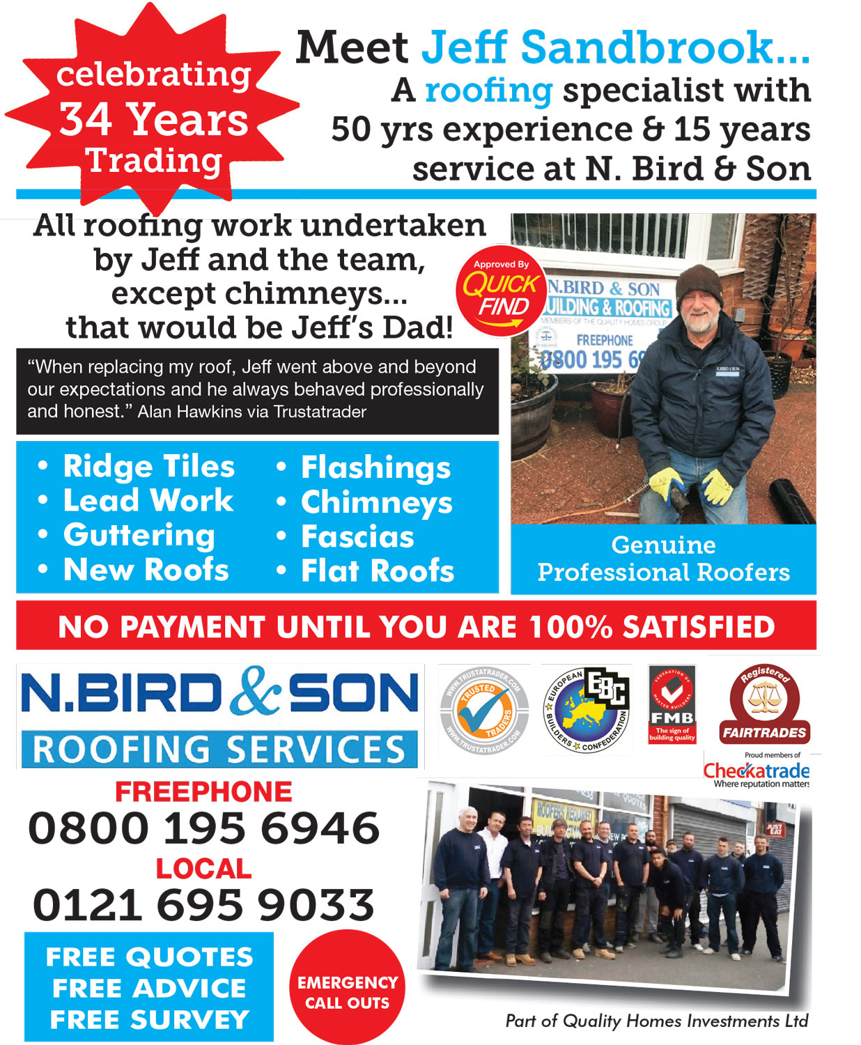 N Bird and Son Roofing