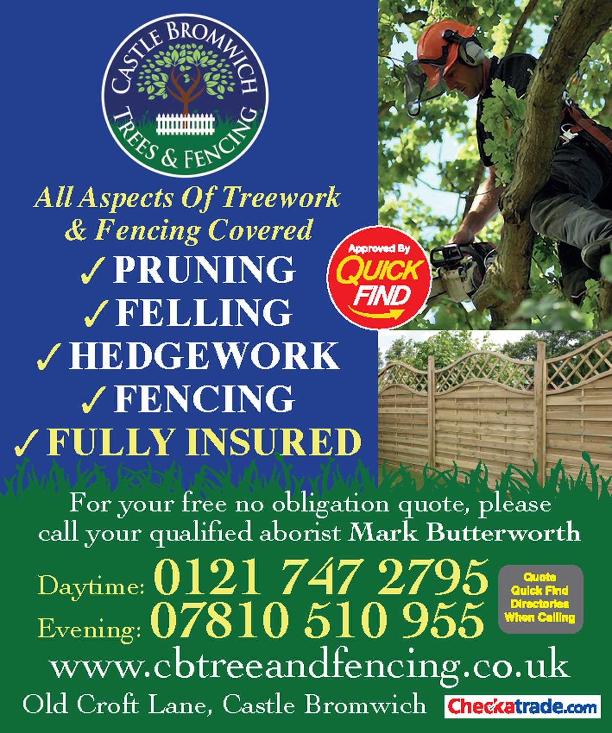 Castle Bromwich Trees & Fencing