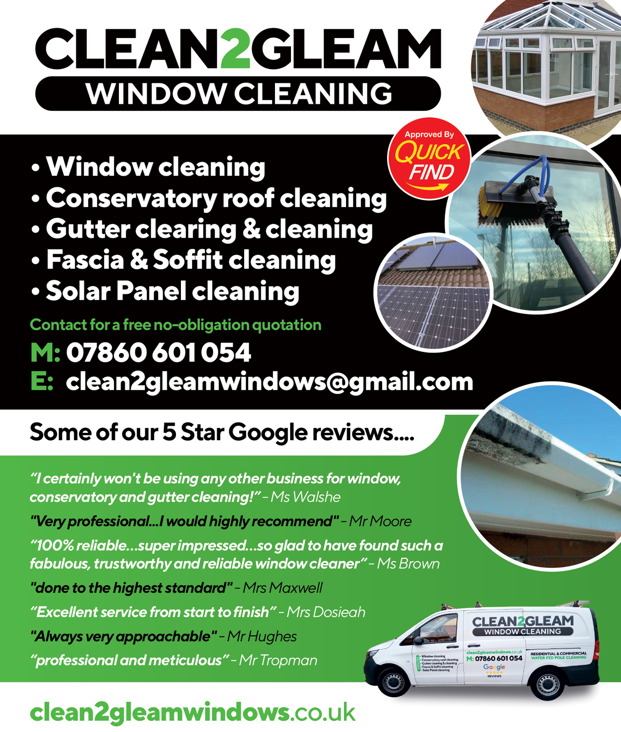 Clean2Gleam Window Cleaning