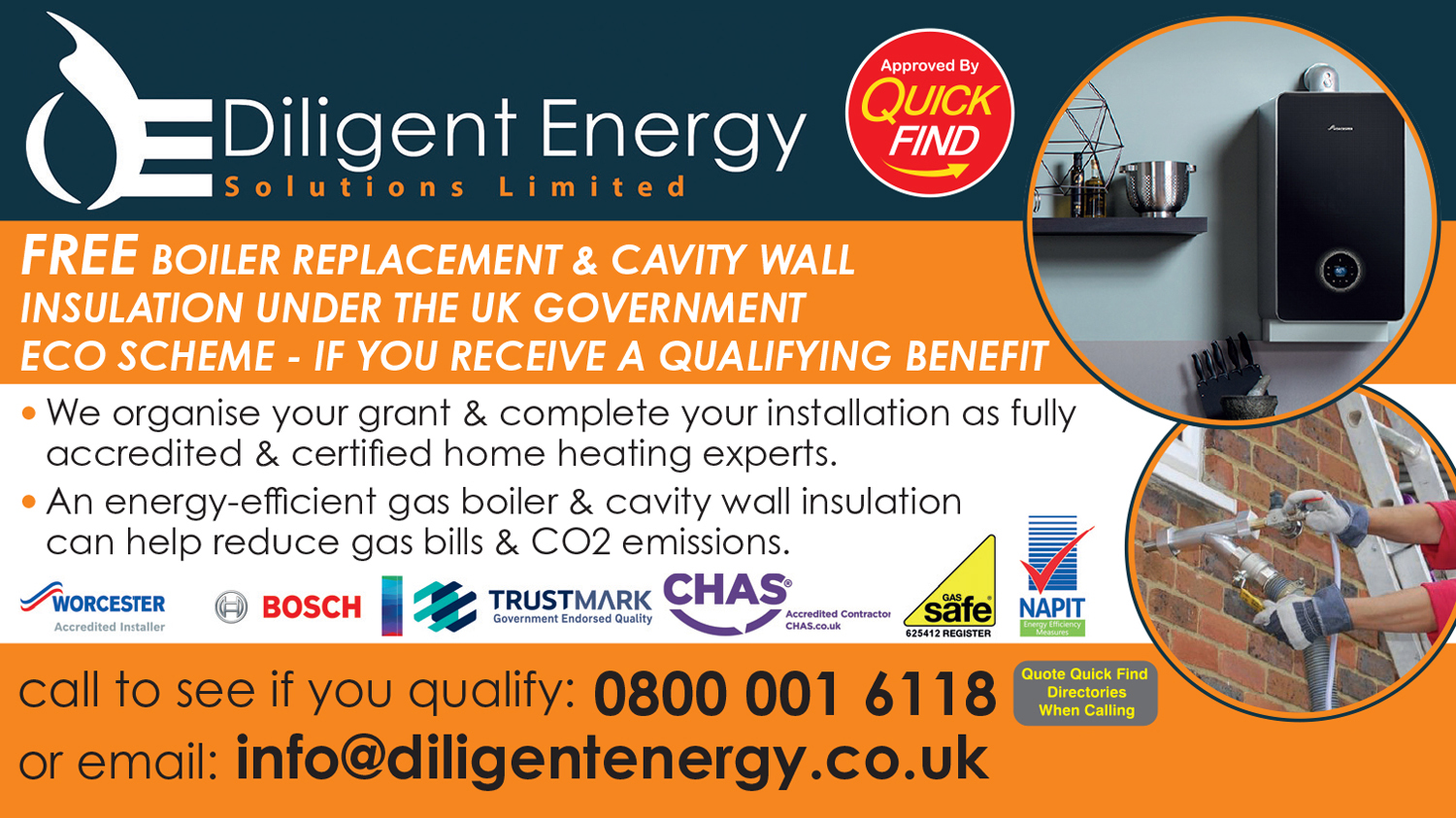 Diligent Energy Solutions Ltd. (Free Boiler Replacement)