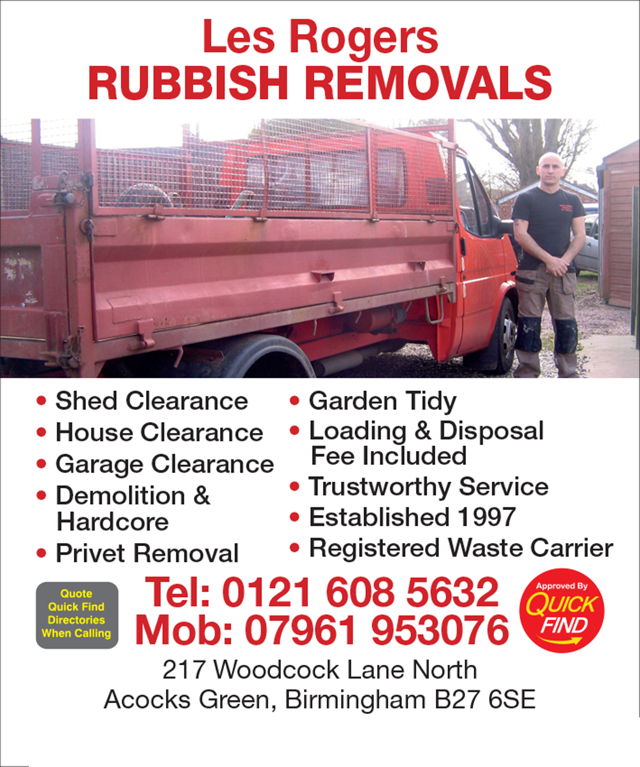 Les Rogers Rubbish Removal