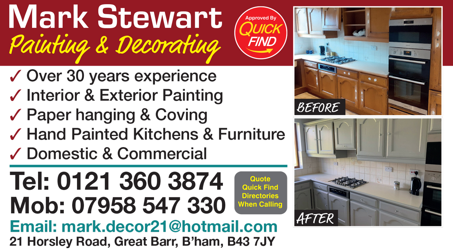 Mark Stewart Painting and Decorating