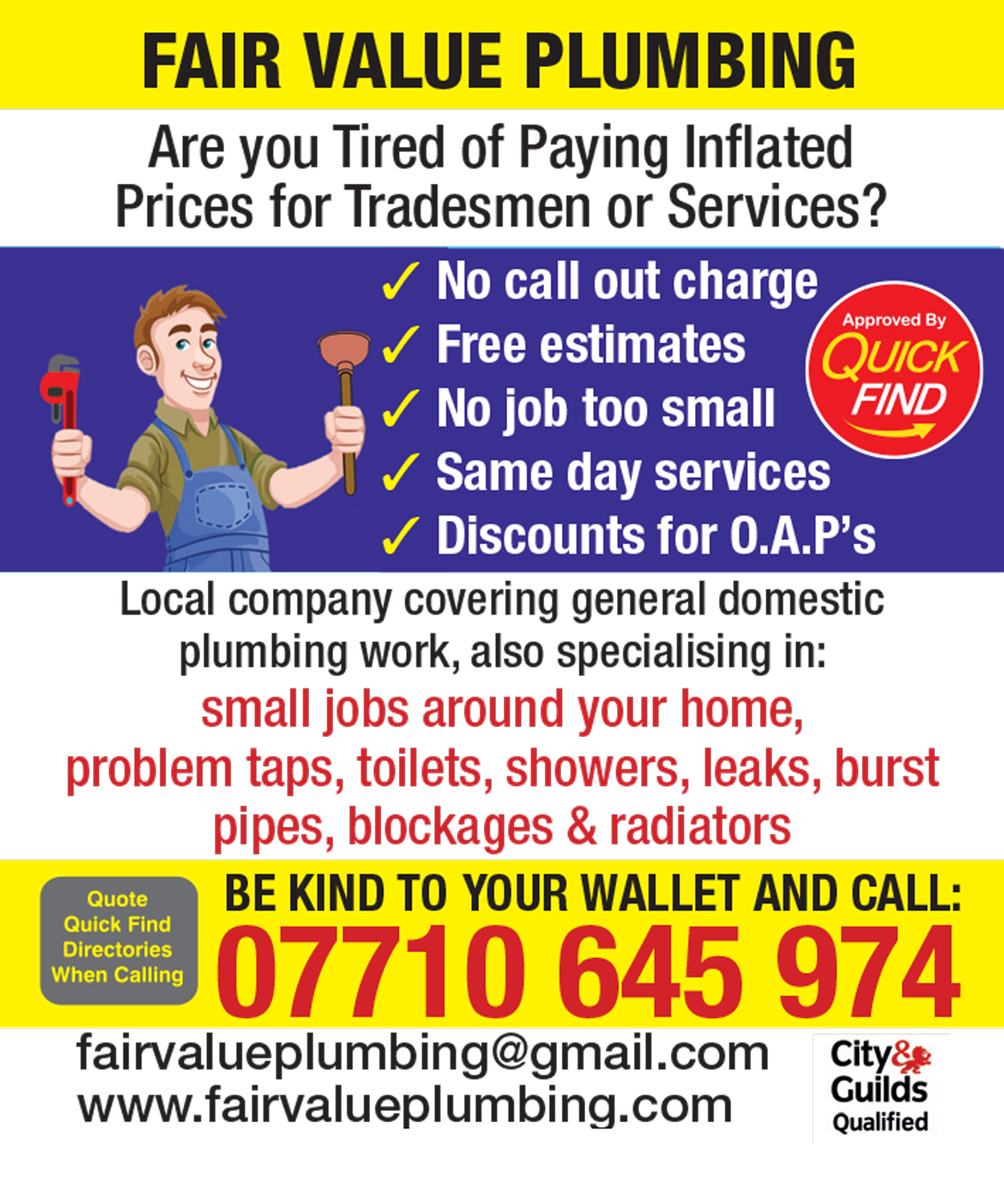 Fair Value Plumbing